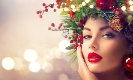 Как да гримираме очите си за Коледа