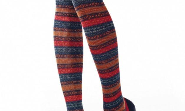 Аксесоар за месец януари – плетените чорапи над коляното