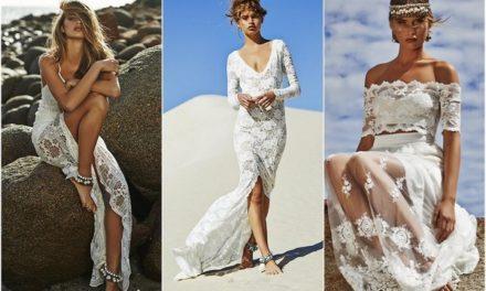 Морски сватбени рокли