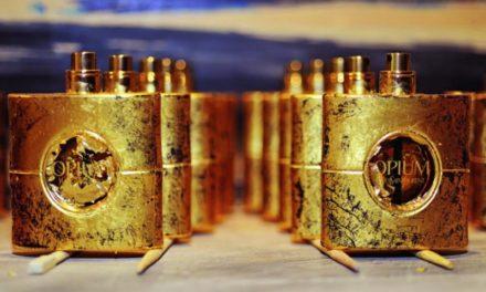 YSL пуснаха Opium в златни бутилки