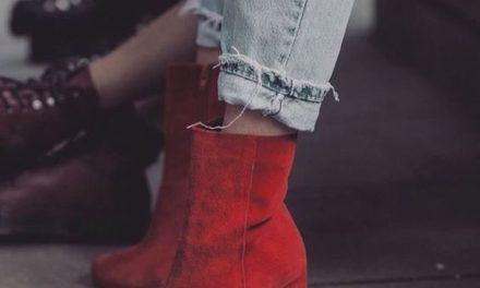 Червените ботуши са изключително модерни тази зима