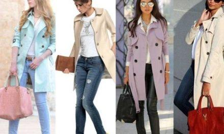 Пастелните шлифери са много модерни сега за пролетта
