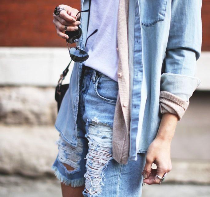 За това лято бъдете много модерни с по – дълги панталонки от деним