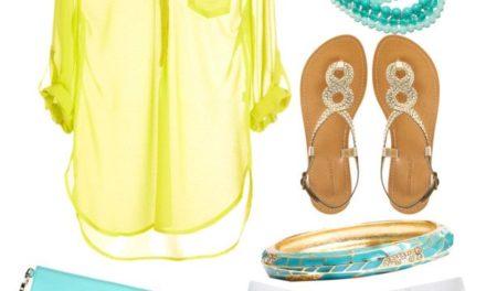 Бъдете много модерни това лято в жълто и бяло