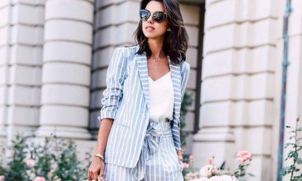 Костюмите с къси панталонки са много модерни това лято